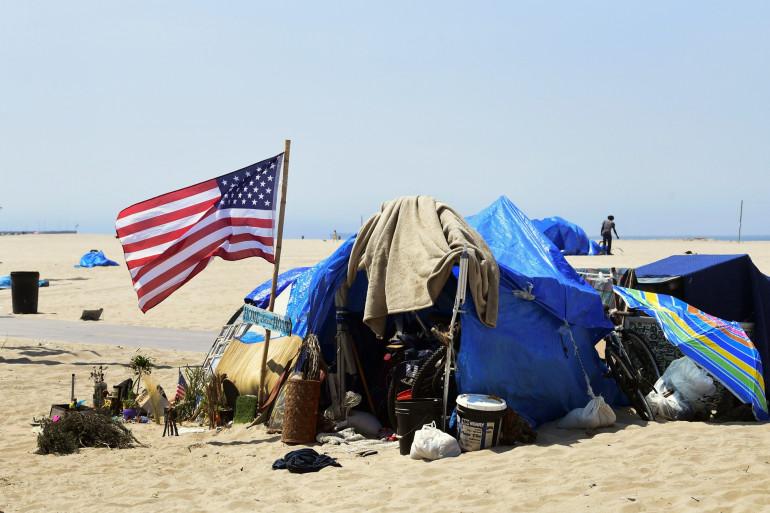 Un sans-abri aux États-Unis (illustration)