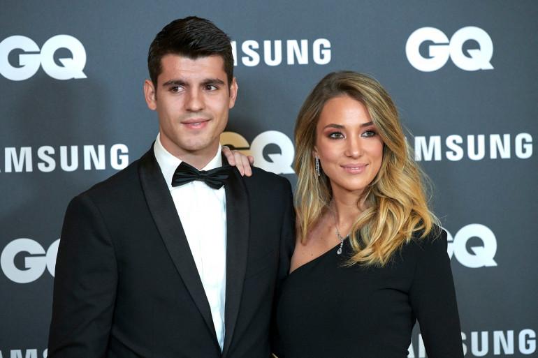 Alvaro Morata et sa compagne Alice Campello en 2019