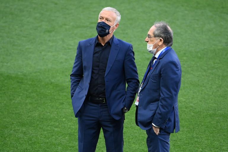 Didier Deschamps et Noël Le Graët à Nice le 2 juin 2021