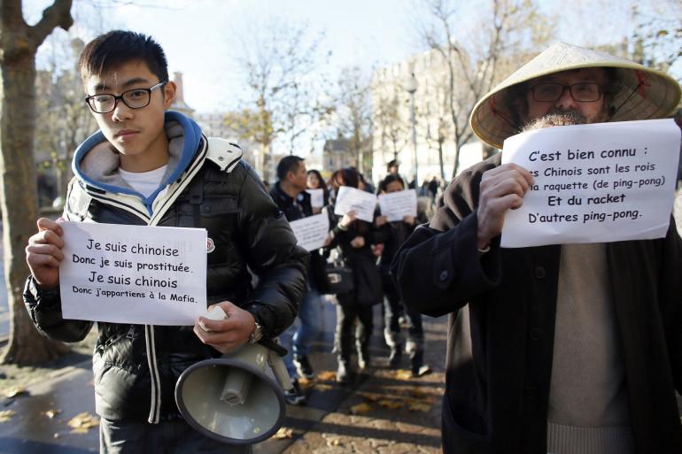 Manifestation de la communauté chinoise en 2012 à Saint-Ouen