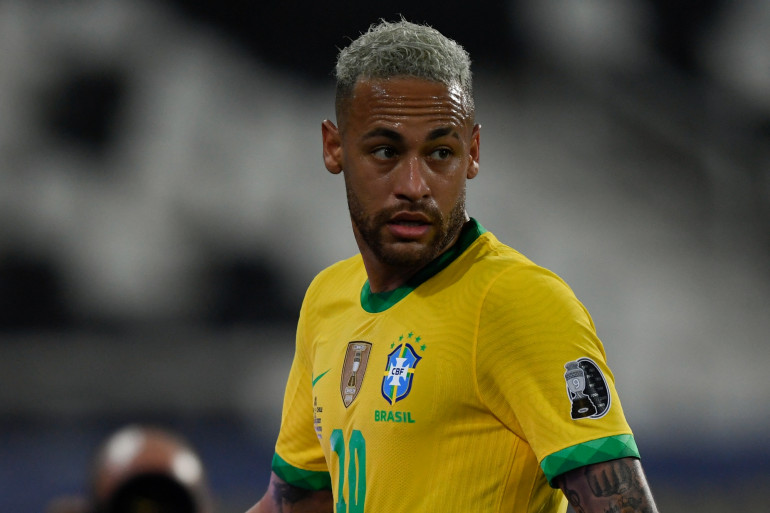 Neymar à la Copa America à Rio de Janeiro le 2 juillet.