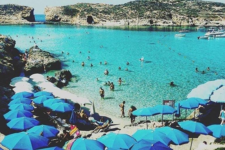 Une plage à Malte