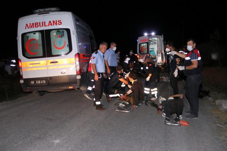 Accident d'un car transportant des migrants dans l'est de la Turquie