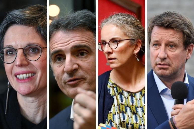 Sandrine Rousseau, Eric Piolle, Delphine Batho et Yannick Jadot