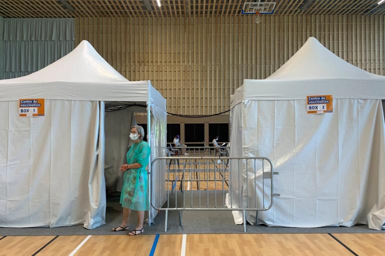 Un centre de vaccination. (Illustration)
