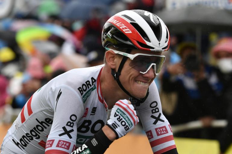 L'Autrichien Patrick Konrad sur le Tour de France le 13 juillet 2021