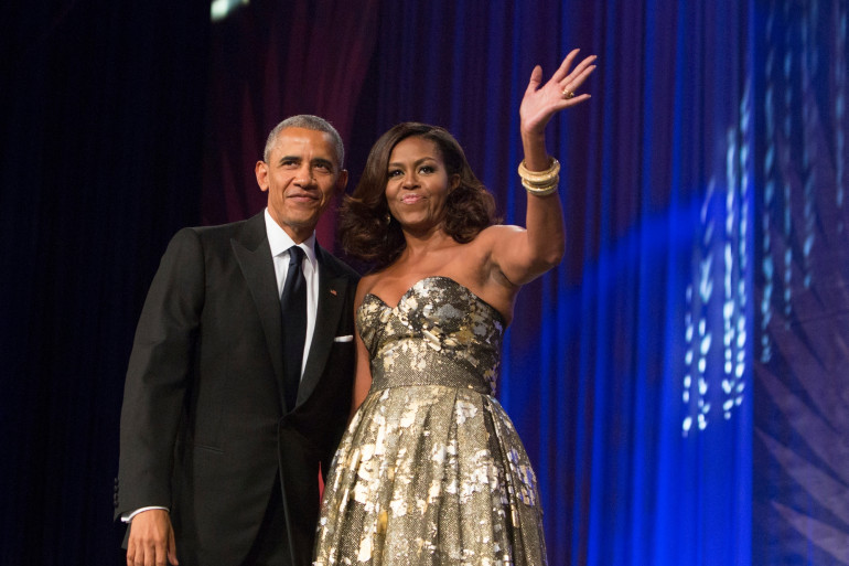 Photo de Barack et Michelle Obama prise le 17 septembre 2016 à Washington DC, aux États-Unis.