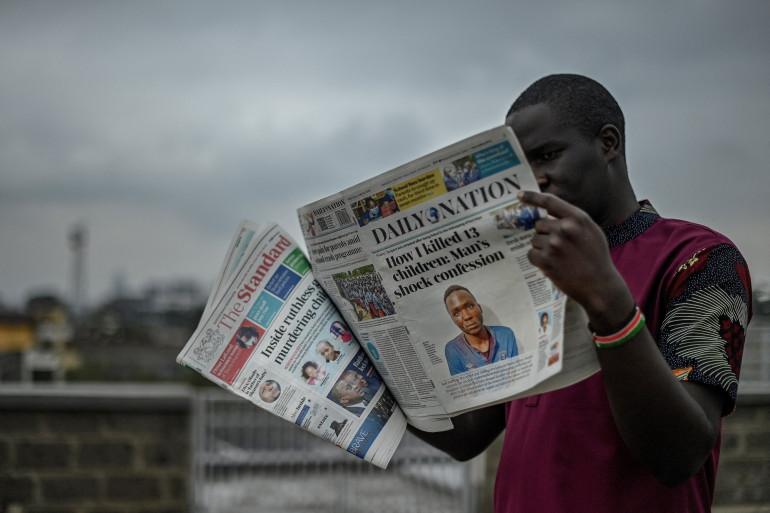 Le tueur d'enfants en série faisait la Une des journaux au Kenya