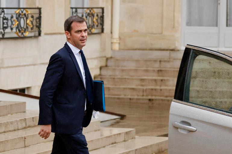 Photo d'Olivier Véran, le ministre de la santé, prise à l'Elysée à Paris, le 13 juillet 2021. (Illustration)