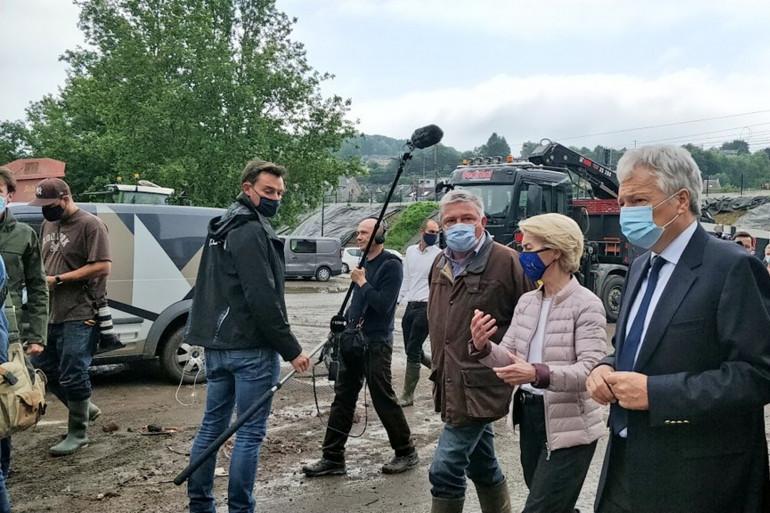 Ursula von der Leyen n'a pas caché son émotion lors de son déplacement en Belgique ce samedi 17 juillet