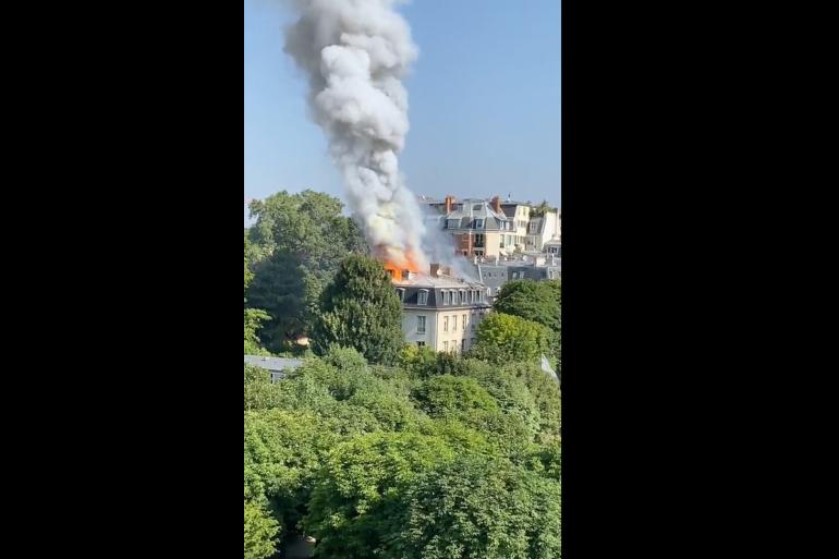 Un incendie dans le VIIe arrondissement