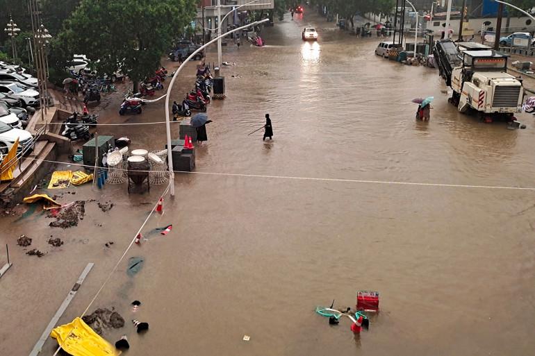 La ville de Zhengzhou, en Chine centrale le 20 juillet 2021