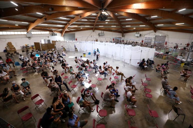 Un centre de vaccination de Perpignan, dans le sud de la France, le 18 juillet 2021. (Illustration)