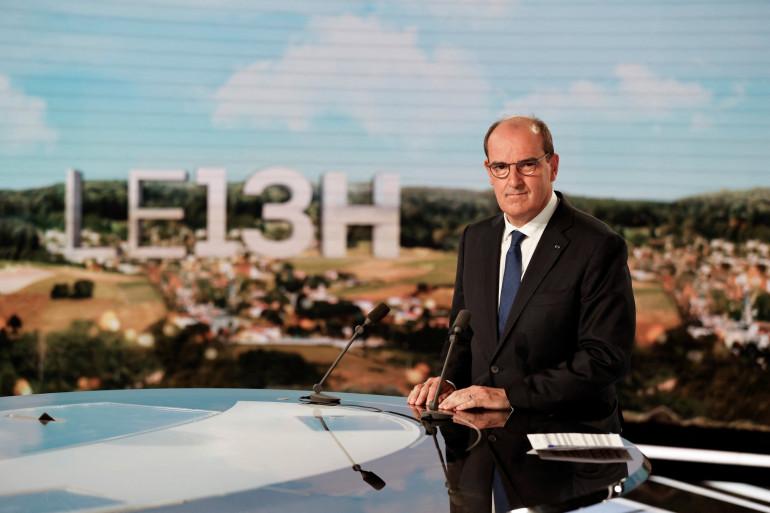 Jean Castex, le Premier ministre, lors de son intervention sur TF1 concernant la crise sanitaire en France, le 21 juillet 2021.