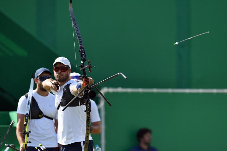 L'archer français Jean-Charles Valladont à Rio le 6 août 2016