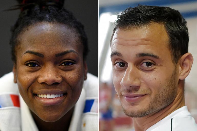 Clarisse Agbegnenou et Samir Aït Saïd, les deux porte-drapeaux de la France