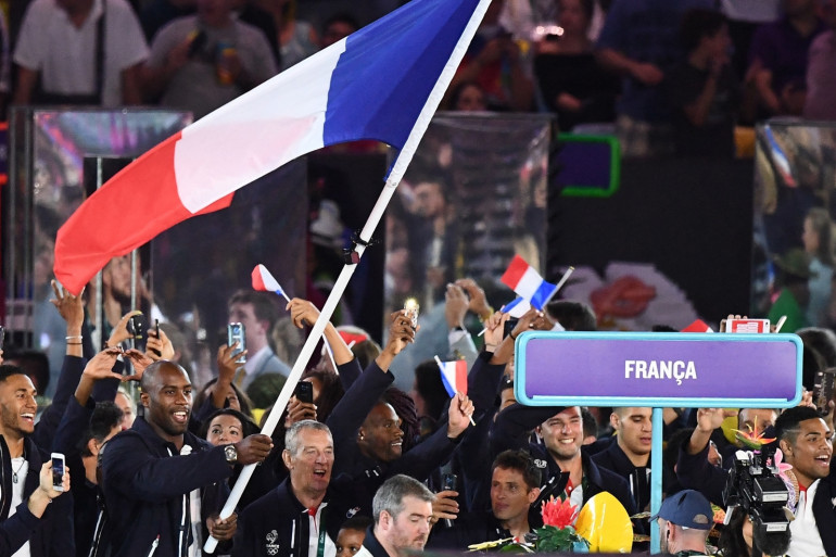 La délégation olympique française à Rio le 6 août 2016