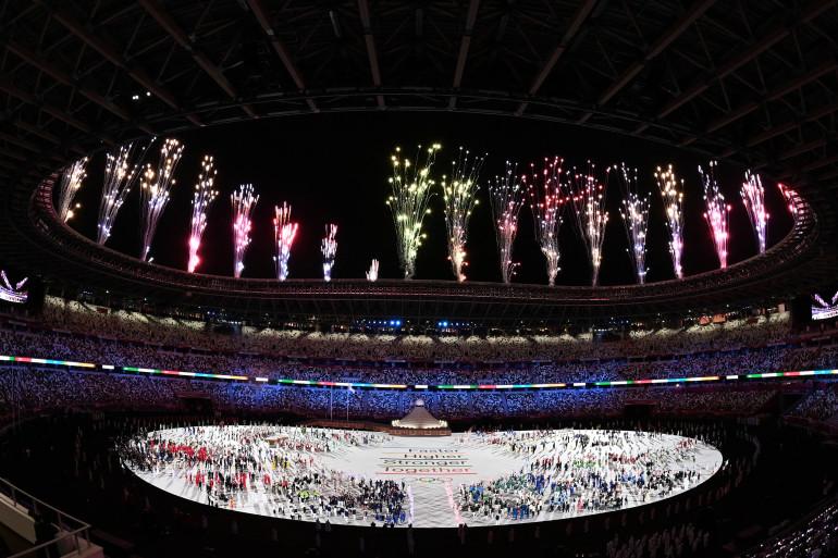 La cérémonie d'ouverture des JO de Tokyo, le 23 juillet 2021