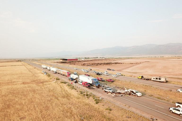 22 véhicules ont été impliqués dans un carambolage dû à une tempête de sable dans l'Utah. 22 décès sont à déplorer.