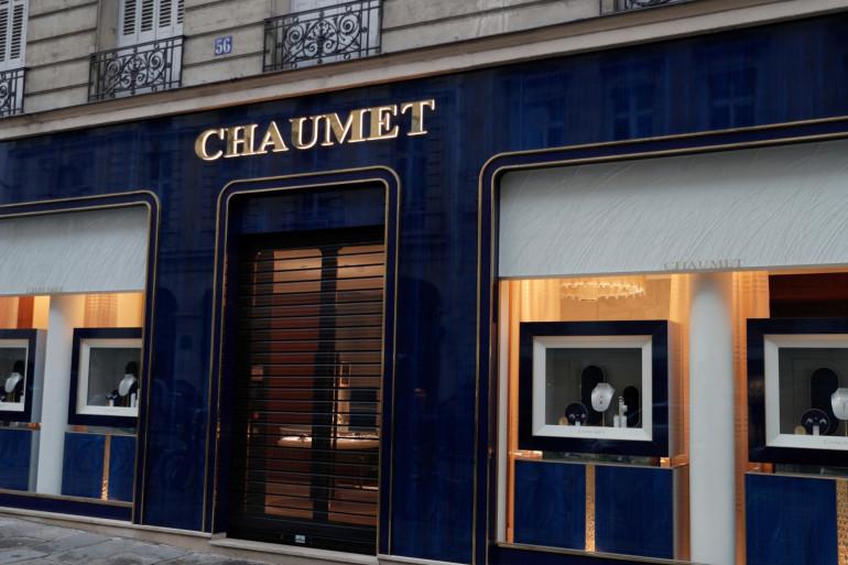 La devanture de la bijouterie Chaumet, à Paris.