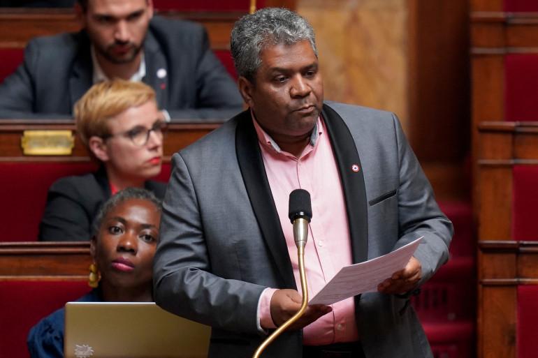 Le député LFI de la Réunion Jean-Hugues Ratenon