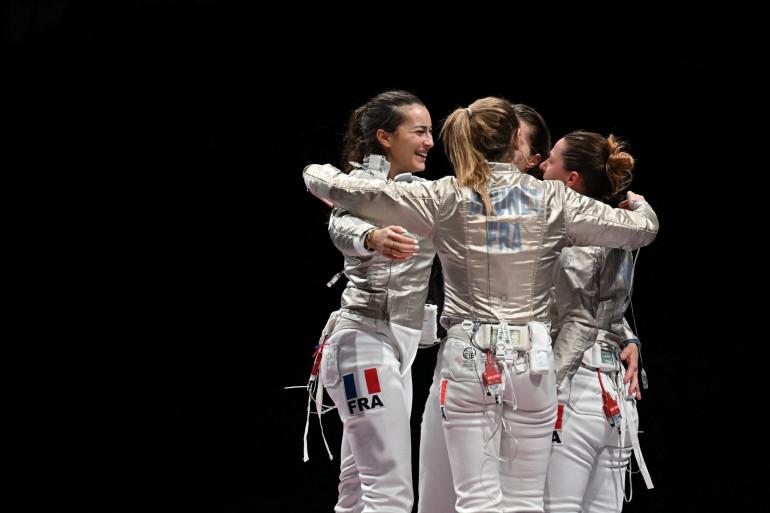 Manon Brunet, Charlotte Lembach, Cécilia Berder et Sara Balzer à Tokyo le 31 juillet 2021