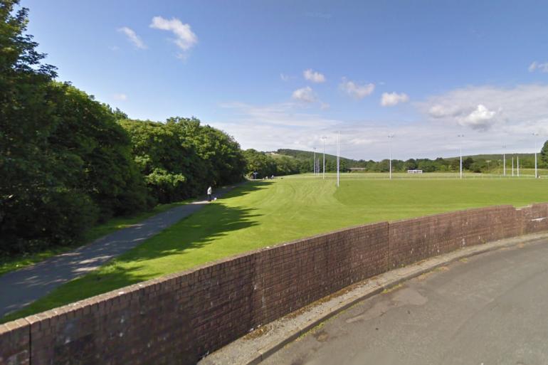 Pandy Park à Sern, non loin d'où l'enfant a été retrouvé sans vie dans une rivière
