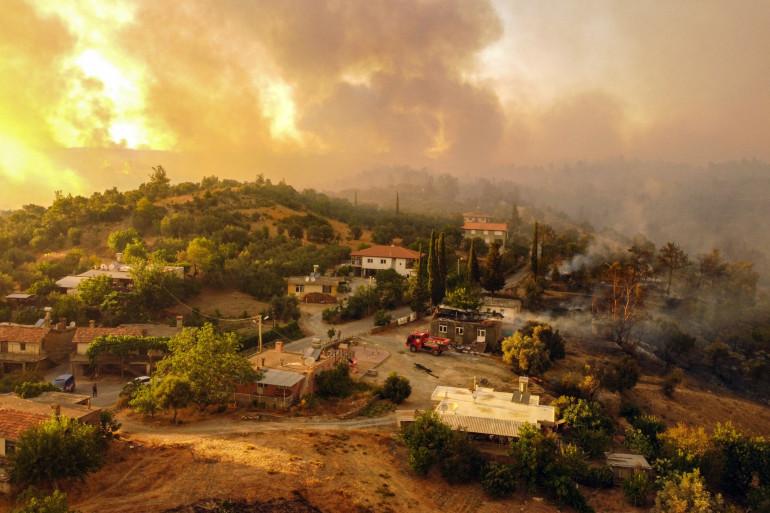 Des incendies à Antalya, en Turquie, le 30 juillet 2021