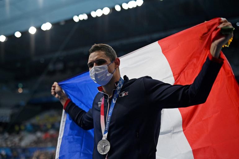 Florent Manaudou a remporté l'argent sur 50 m nage libre aux JO de Tokyo