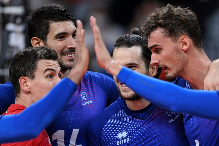 Les volleyeurs français à Tokyo le 5 août 2021