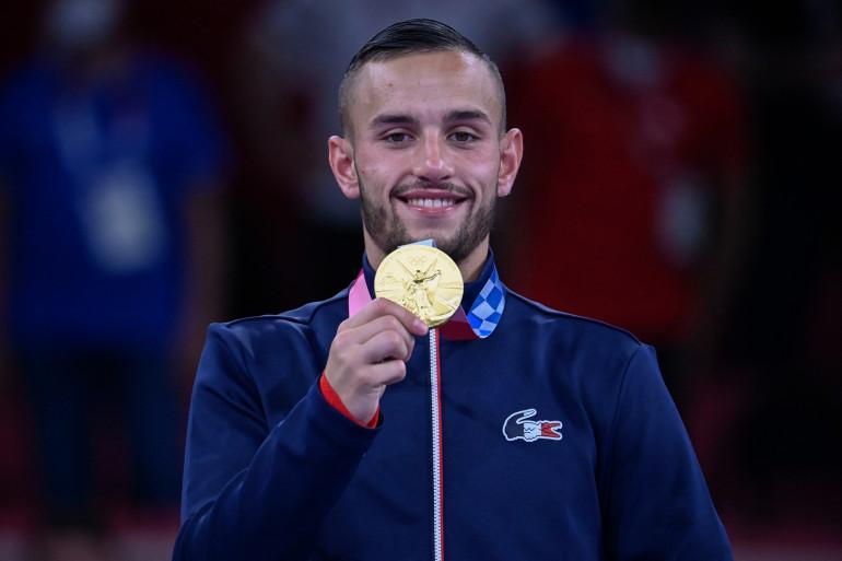 Le champion olympique du karaté, Steven Da Costa, a été désigné porte-drapeau de la France pour la cérémonie de clôture des JO de Tokyo