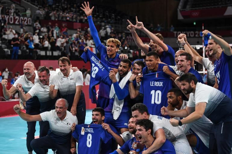 L'équipe de France masculine de volley à Tokyo le 7 août 2021