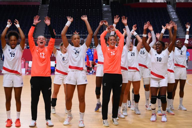 Les handballeuses françaises à Tokyo le 8 août 2021