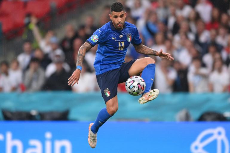 Emerson Palmieri sous le maillot de l'Italie à l'Euro le 11 juillet 2021.