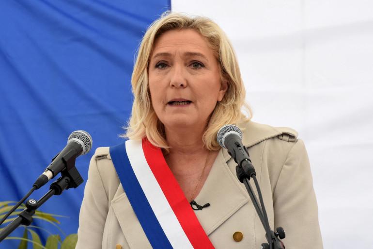 La présidente du Rassemblement National, Marine Le Pen, le 8 mai 2021