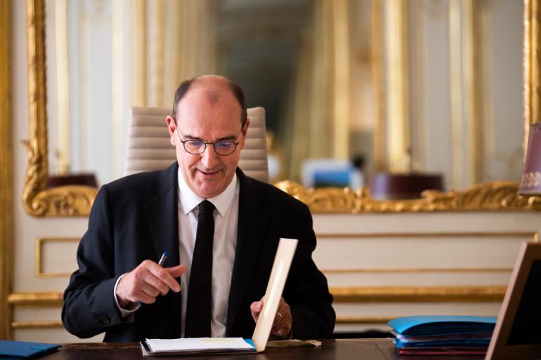 Le Premier ministre Jean Castex à l'hôtel de Matignon le 3 août 2020