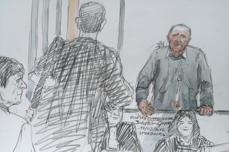 Nicolas Charbonnier à la Cour d'Assises de Strasbourg le 17 mars 2016.