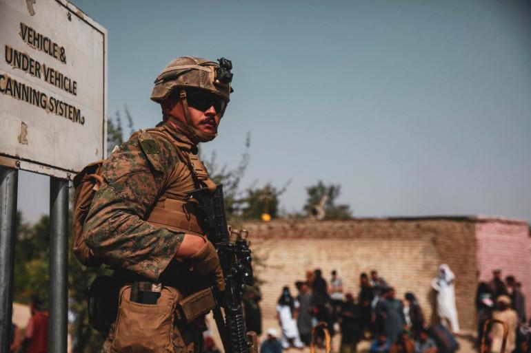 Un soldat américain à Kaboul, le 18 août 2021 (image d'illustration).