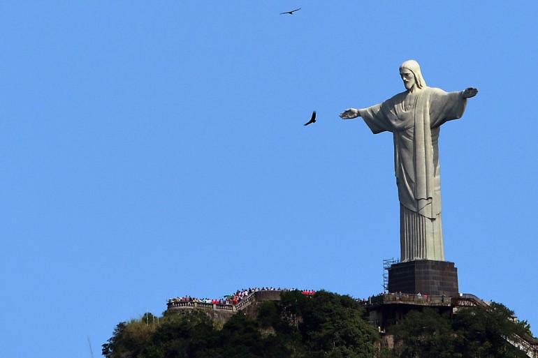 """La statue du Christ rédempteur à Rio, communément appelée """"Corcovado"""""""