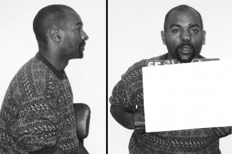 """Photo diffusée le 26 mars par la police, du """"suspect numéro 1"""" dans l'affaire du tueur de l'est parisien, identifié comme Guy Georges"""
