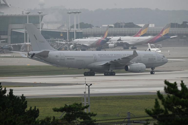 L'aéroport de Kaboul, en Afghanistan, le 26 août 2021