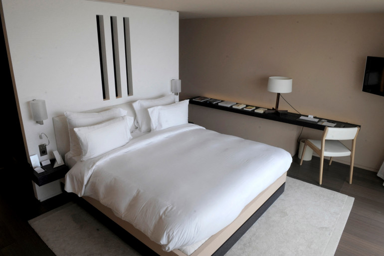 Photo d'une chambre d'hôtel. (Illustration)