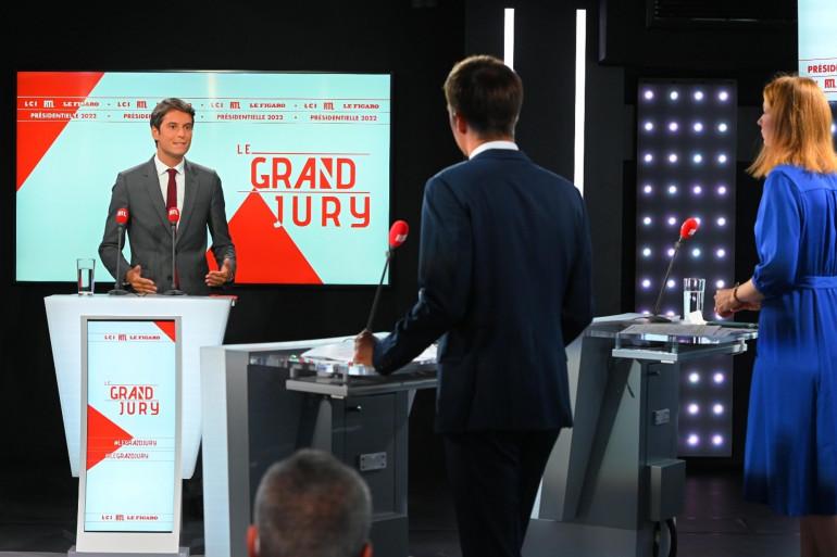 Gabriel Attal sur le plateau du Grand Jury dimanche 29 août 2021