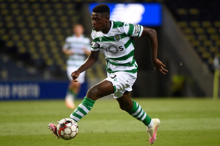 Le défenseur portugais Nuno Mendes, sous les couleurs du Sporting le 15 juillet 2020