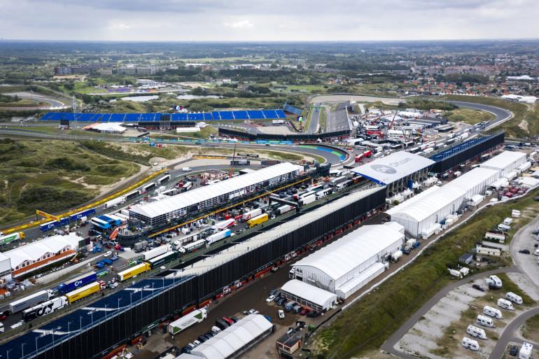 Vue aérienne du circuit de Zandvoort aux Pays-Bas le 31 août 2021