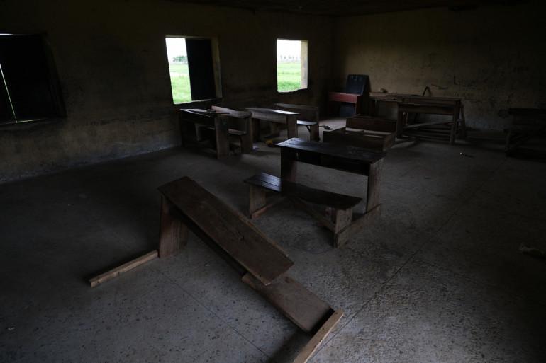 Une salle de classe vide au Nigeria après des enlèvements en juillet 2021