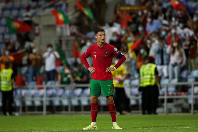Cristiano Ronaldo pendant la rencontre Portugal-Irlande le 1er septembre 2021