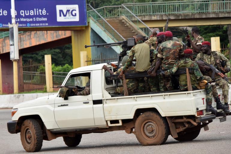 Les forces spéciales à Conakry en Guinée
