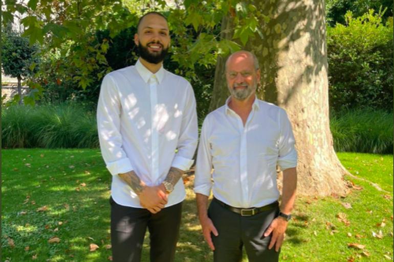 Evan Fournier et Jean-Michel Blanquer se sont entretenus ce dimanche 5 septembre