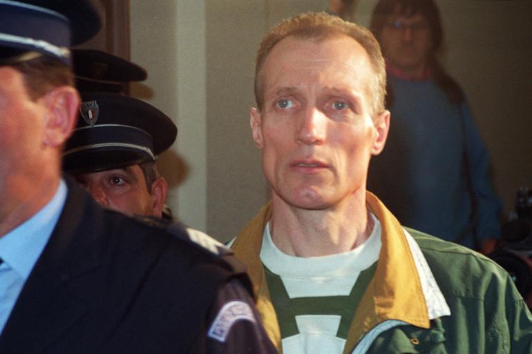 L'ex-adjudant Pierre Chanal, le 23 octobre 1990 au palais de justice de Chalon-sur-Saône